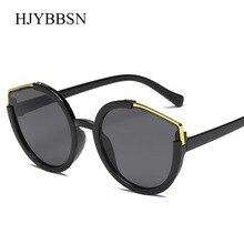 Rodada do vintage Óculos De Sol Das Mulheres dos homens do sexo feminino  marca Quadros Lentes d59657f0ca