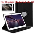 360 Degree Rotation Horizontal Flip Leather Case with Holder for Huawei MediaPad M2 10.0 inch / A10W Tablet +Stylus +Screen Film