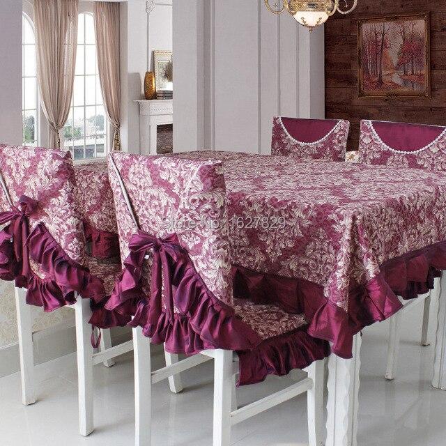 Decoración manteles y fundas para sillas de comedor mesa de paño ...