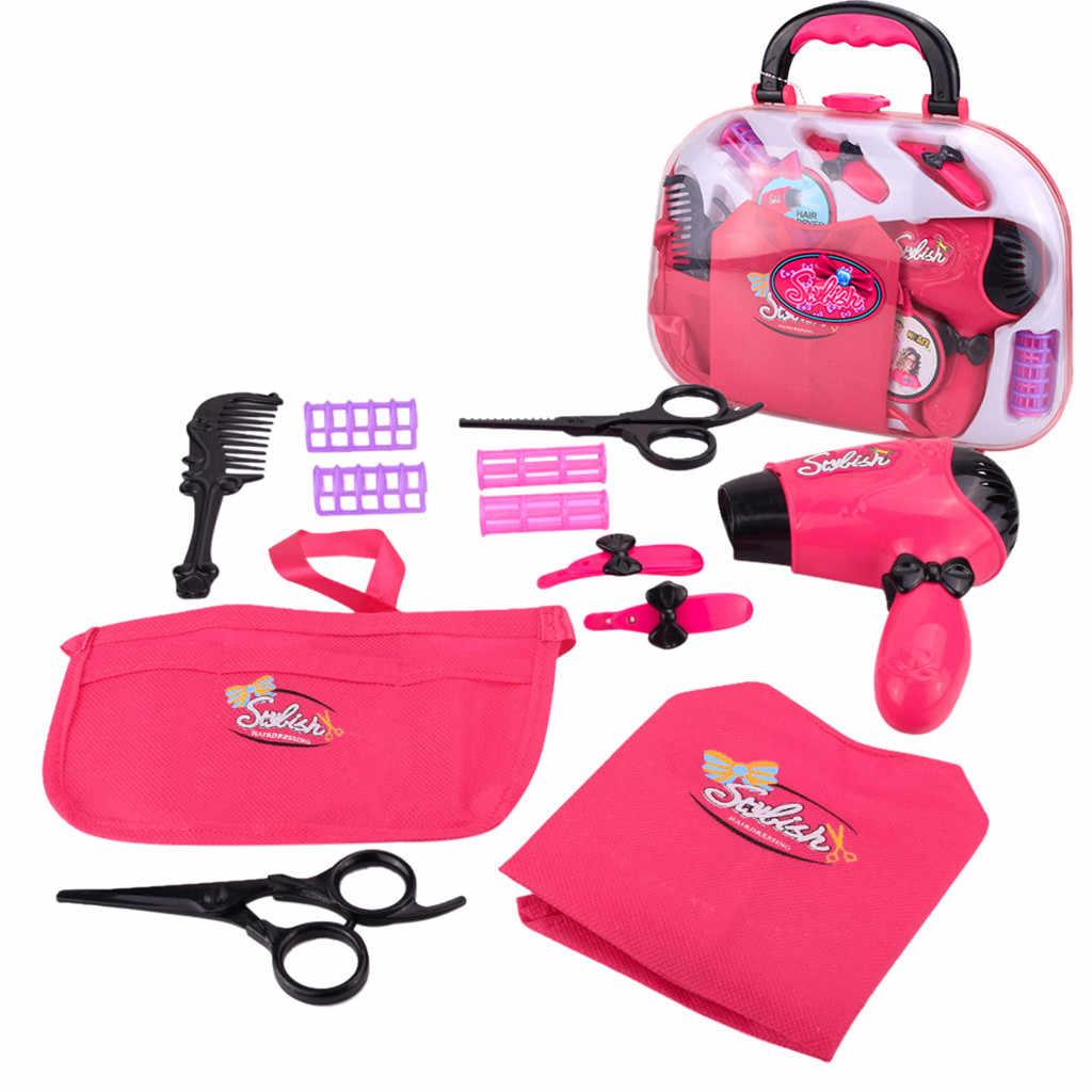 Детская ролевая игра макияж комплекты инструментов фен Косметика Игрушки для девочек детская мебель ролевые игры T6 #