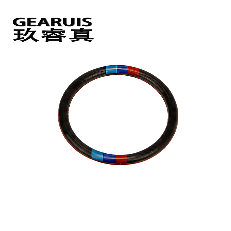 Car Styling <font><b>Carbon</b></font> Fiber <font><b>Interior</b></font> Ignition Keyhole Ring Decoration Cover Sticker M Stripe Trim For <font><b>BMW</b></font> <font><b>e60</b></font> 5 series Accessories image