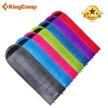 KingCamp сверхлегкий спальный мешок конверт Тип зимний хлопковый спальный мешок для взрослых походный спальный мешок большой размер Bolsa De Dormir