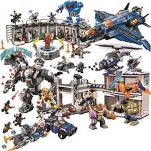 New Superheroes Avengers 4 fit legoings marvel avengers 76131 76124 76125 76126 Endgame Figures Building Blocks bricks Toy Gifts