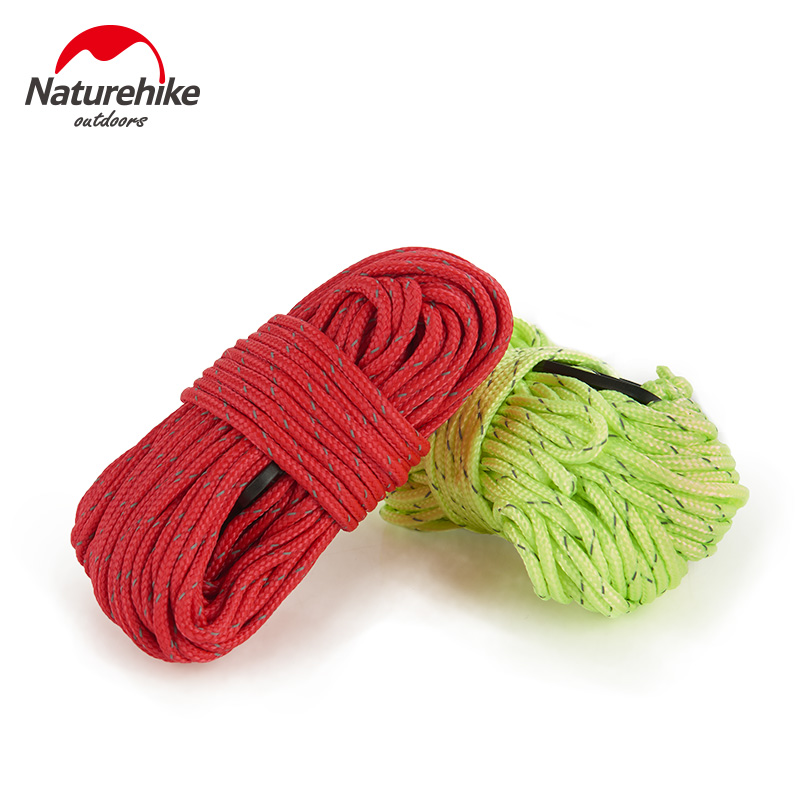 Naturehike 4Pcs/set ultralight outdoor camping Reflective tent windbreak rope buckle Awning tent accessories Rope NH15A001-G