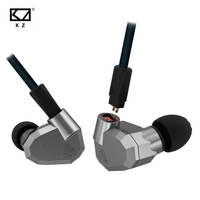Original KZ ZS5 HIFI Earphones 2DD 2BA Hybrid In Ear DJ Monito Super Bass Earplug Headsets