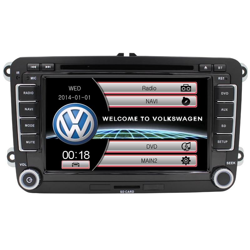 for Volkswagen VW passat b6 Golf 5 jetta Saitar Caddy Car dvd Radio Gps multimedia Reversing Camera SWC Phonebook USB Free map