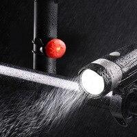 휠 위로 사이클링 라이트 USB 충전식 자전거 라이트 프론트 라이트 미등 세트 자전거 LED 라이트 방수 손전등