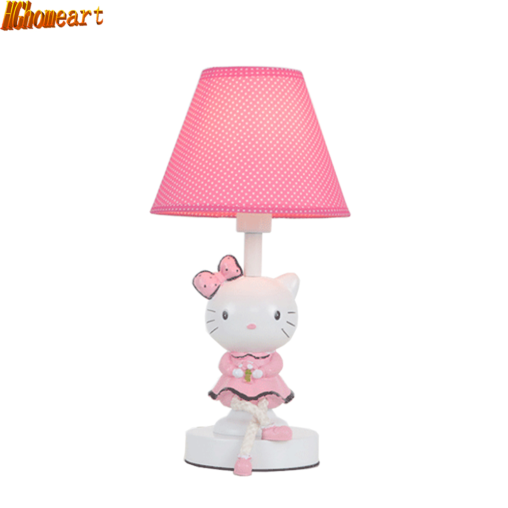 HGhomeart Kids Room Modern Cartoon Table Lamp Children's Table Lamp 110V-220V Reading Light Switch Button Learning Lamp hghomeart children room captain bear modern table lamp kids wooden desk lamp e14 reading led lamp switch button study lamps