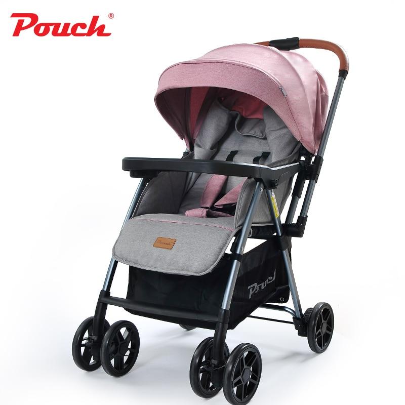 Pouch can sit can lie Baby Stroller Aluminum alloy frame carriage fold pram EVA wheel pushchair two way push baby stroller shefik bajmak analysis of optimal flow characteristics