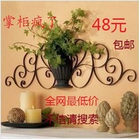 Iron wrought iron wall mural decoration wall accessories wall mural artificial flower
