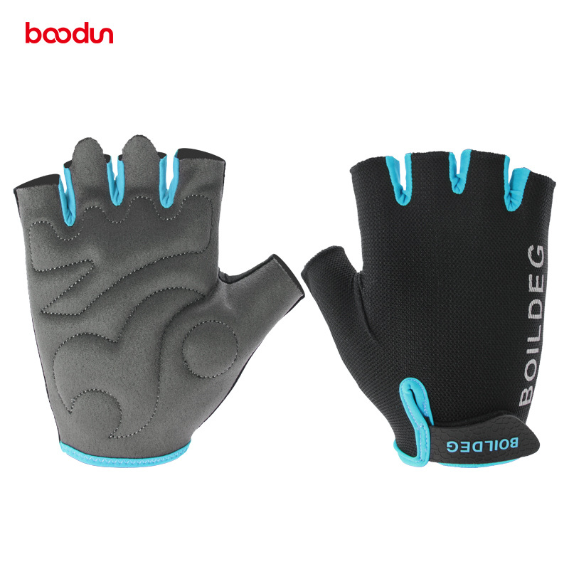 Boodun Cycling Half Finger Gloves Outdoor Sports Breathable Shockproof Bicycle Gloves MTB Road Bike Gloves Cycling Equipment