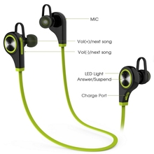 Consumer Electronics Wireless Bluetooth Earphone Headphone Stereo Sport Running Headset With Microphone For iPhone iPod xiomi