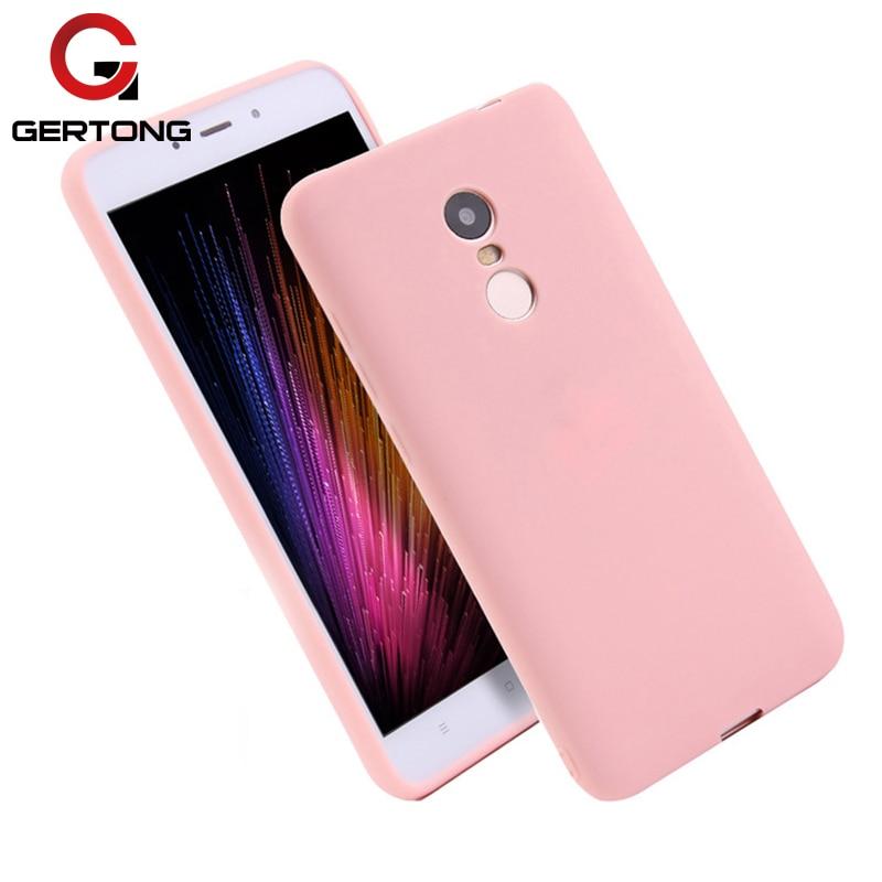 GerTong Pink Colors Soft TPU Silicone Case For Xiaomi Mi A1 Mi5X Scrub Phone Cover For Xiaomi Redmi Note 6 Pro 4X 5A Coque Capa