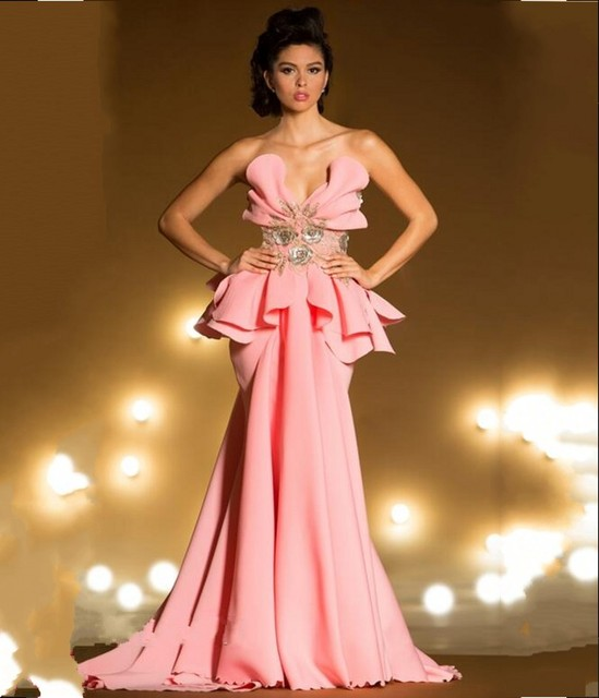 Sexy Pink Evening Gown