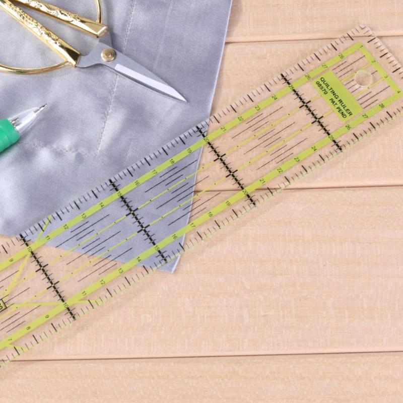 Handmade Quilting Rulers Cloth Tools Plastic Sewing Patchwork Ruler Tailors Feet Put Yardstick Cutting 5CM X 30CM