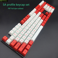 First Creation PBT Dye Sublimation Keycap OEM Profile Sa Red Alent Factory Special PBT Keycaps For
