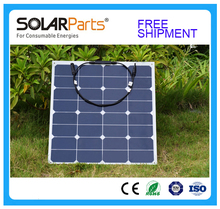 Solarparts 1pcs 50w PV outdoor Solar Panel module solar cell speaker sport travel marine yacht RV motor home battery use