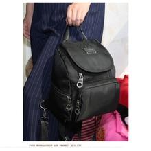 2017 Новые Девушки женщины рюкзак сплошной цвет молния холст мешок функциональная сумка большая емкость сумка для леди