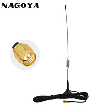 NAGOYA UT-102UV SMA-M Male VHF UHF 144/430MHz Dual Band Car Antenna For Baofeng UV-3R Two Way Radio 3m RG-174 Extension Cable srh805s dual band uhf vhf antenna sma male for baofeng uv3r uv100 linton lt6100 lt6188 yaesu vertex vx 6r radio