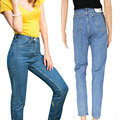 High Waist Jeans Womens Denim Pants 2016 New Slim Pencil Pants Capris Trousers Fits Lady Jeans Boyfriend Jeans For Women Pants