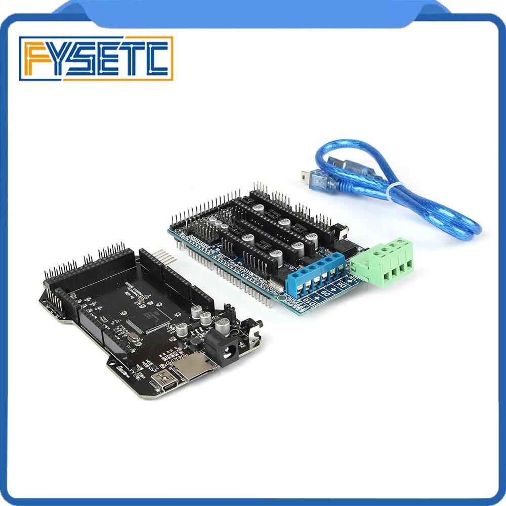 Imprimante 3D pièces RE-ARM carte de contrôle 32 bits mise à niveau Mega 2560 R3 carte mère + rampes 1.5 panneau de commande d'extension - 5