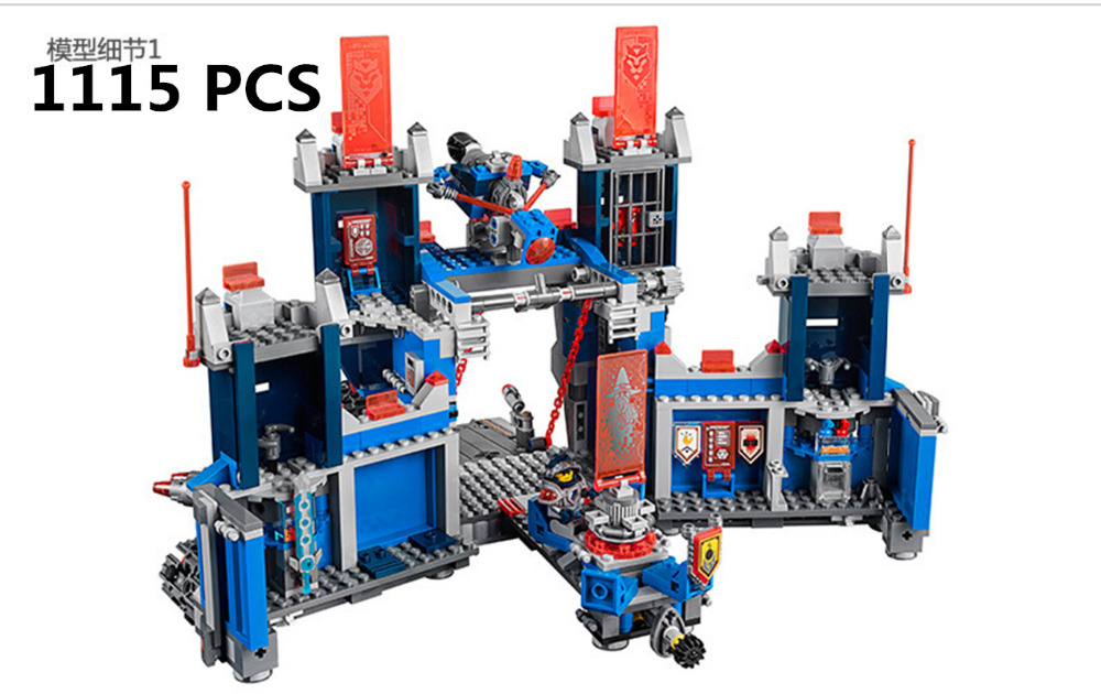 ФОТО lepin knights castle model building block rc toys fox knights future series mobile fortress building blocks kids toy compatible