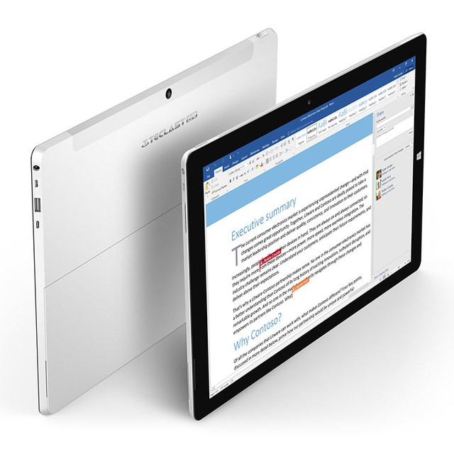 12.2inch Teclast X5 Pro 2 in 1 Tablet PC Windows 10 IPS Capacitive Screen Intel Kaby Lake Core M3-7Y30 Quad Core 1.0GHz 8GB RA