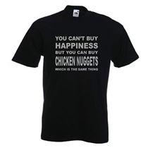 Chicken Nuggets T-Shirt Funny Food TShirt Quote T Shirt Slogan Sizes S-XXXL