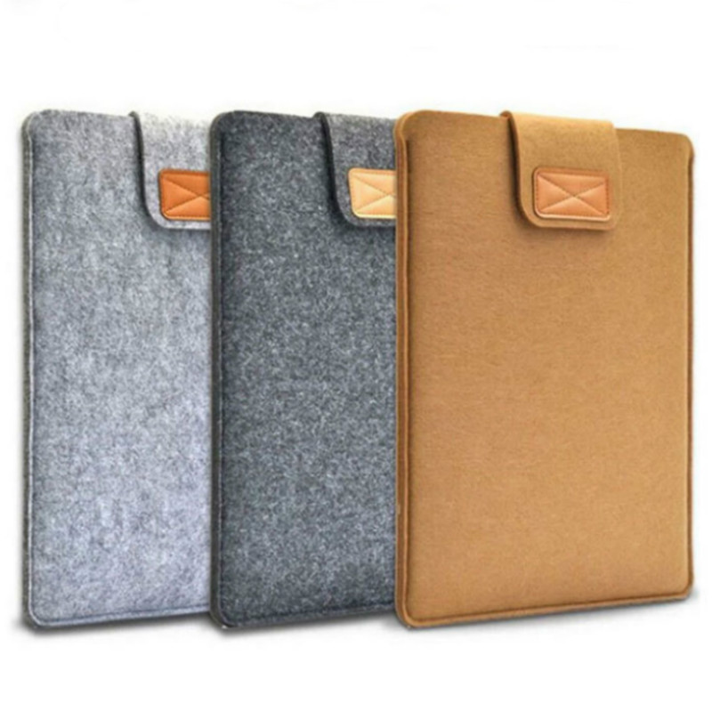 7.9-10 Sleeve Bag Case Universal Wool Felt Fabric Tablet Cover For Ipad Air 1 Mini Huawei Samsung 10.1 Mipad 4 Pouch Capa