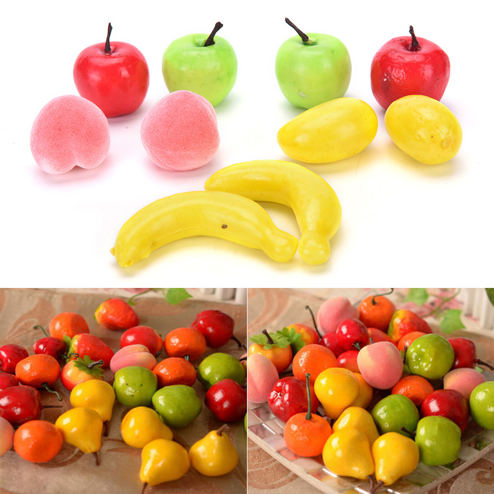 Kitchen-Toys 10pcs Bananas Pineapple Fake-Fruit Garden Artificial-Lifelike Home