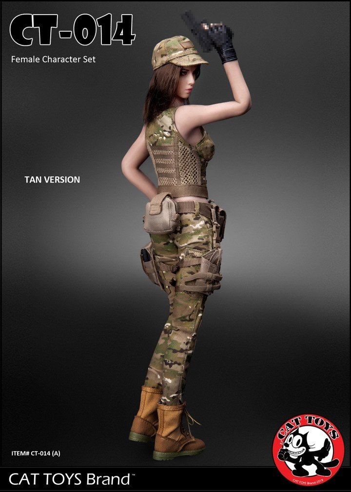 Fire Girl Toys 1//6 Female Python Pattern Combat Clothes Full Set Costume