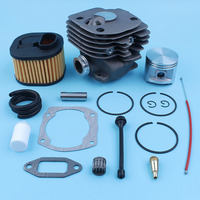 50mm Cylinder Piston Top Engine End Kit For Husqvarna 372 XP 365 371 362 Chainsaw Nikasil Plated WT Air Filter Gaskets Filters