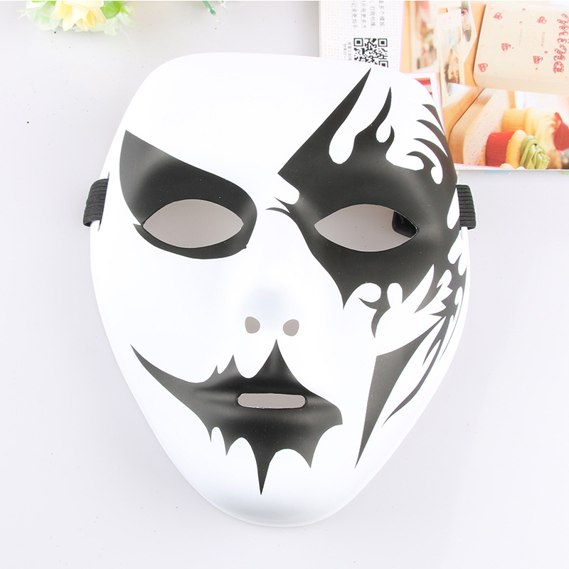 Hand painted balls, fashion masks, full face masks for fashion parties, costume dances, street dance, horror games, toy props. image