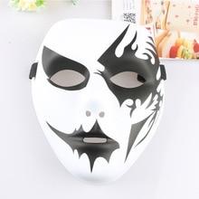Bola yang dilukis dengan tangan, topeng mode, masker wajah penuh untuk pesta mode, tarian kostum, tari jalanan, permainan horor, alat peraga mainan.