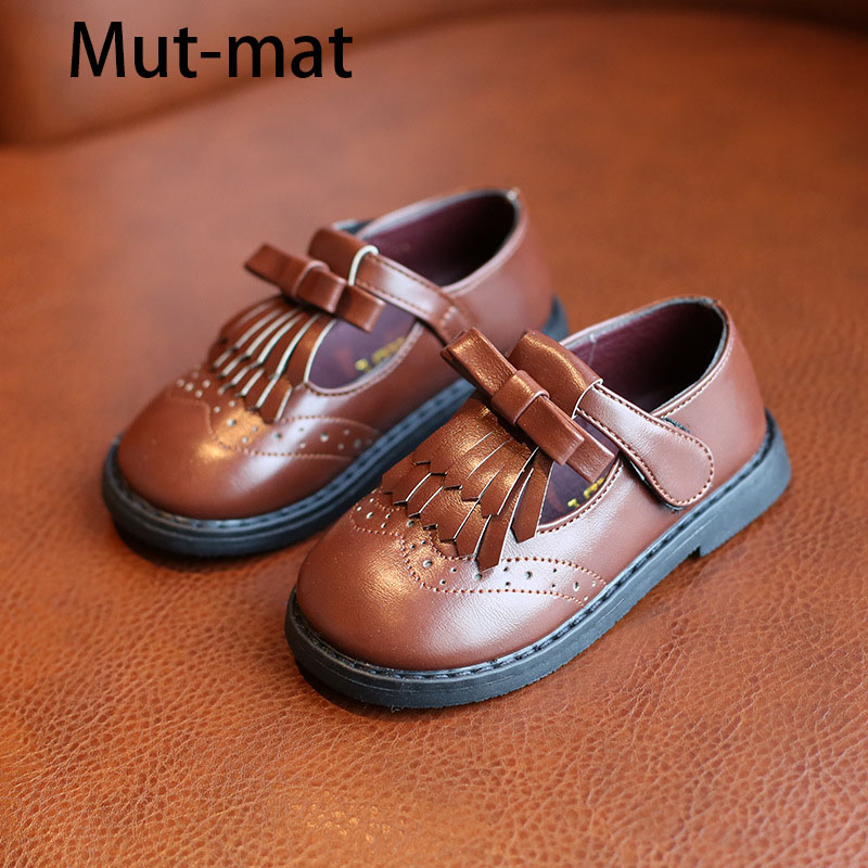2019 Spring New Children's   Bow Shoes Baby Casual Shoes In The Children's Soft Bottom Non-slip Shoes
