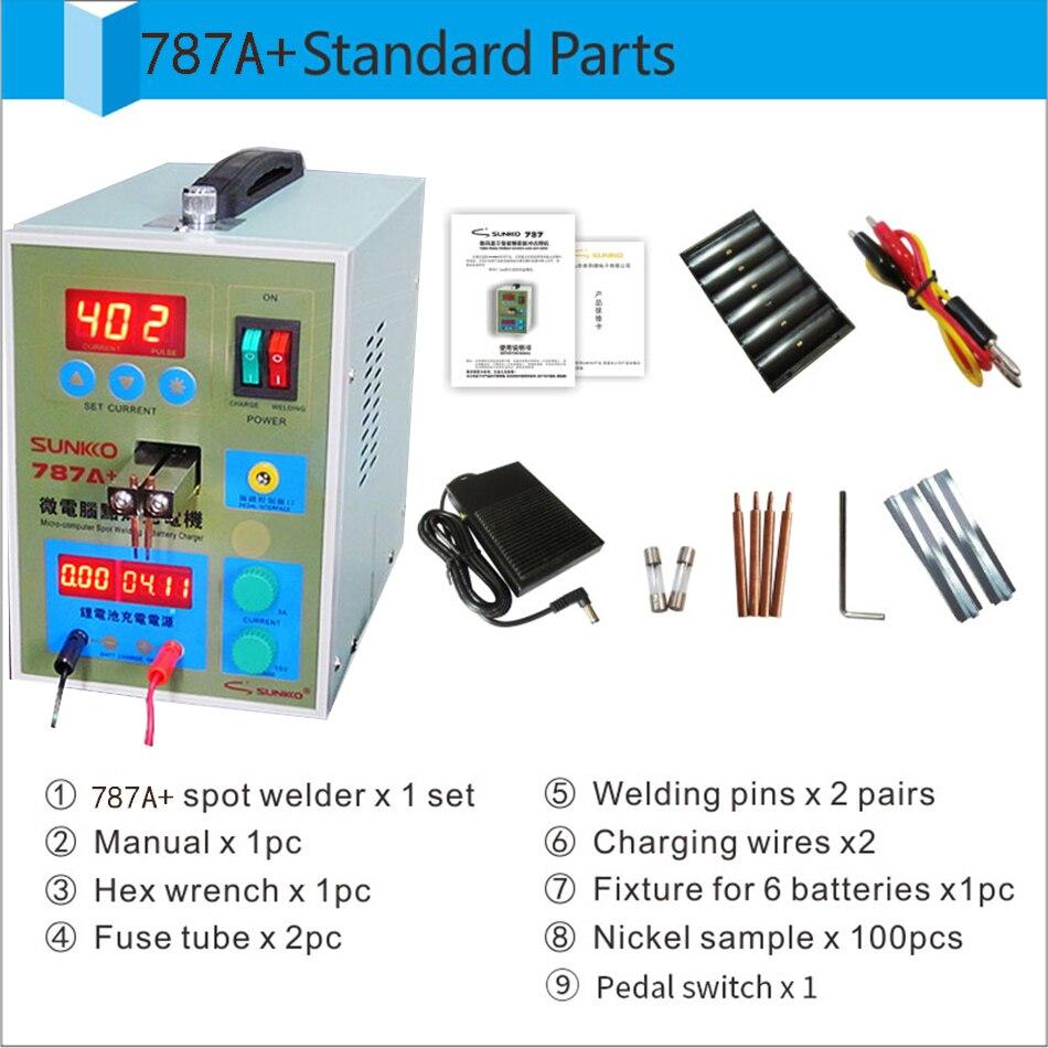 S787A + 18650 soudage par points de batterie + T338D testeur de décharge de batterie au lithium capacité de résistance au trésor