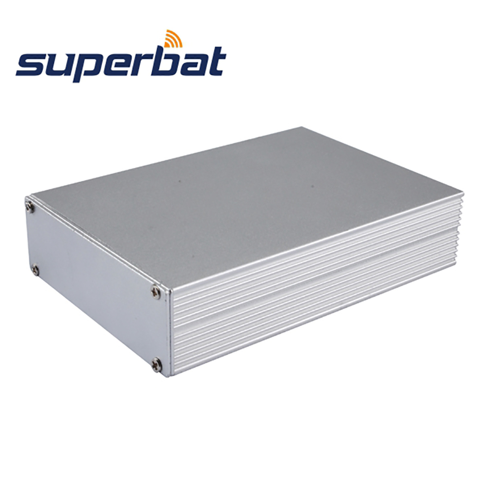 NEW Silver Aluminum Project Junction Box 110mm*78mm*26mm Electronic Instrment PCB Amplifier Enclosure Case DIY 4.32″*3.07″*1.02″