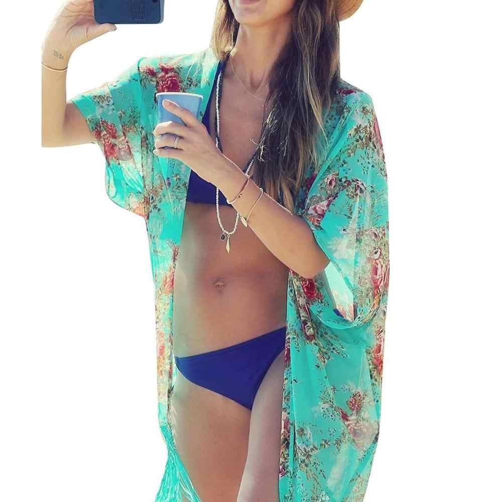 Roupa de banho das mulheres beachwear bikini beach wear cobrir kaftan vestido de camisa de verão