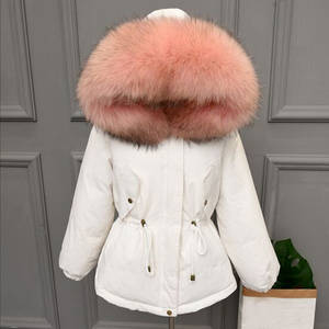 a724226231bfc lagabogy Coat 2018 Fur Parka Hooded Winter Jacket Women