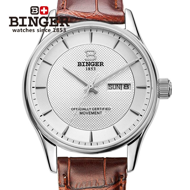 Switzerland mens watch luxury brand BINGER luminous Japan MIYOTA Mechanical Wristwatches leather strap Waterproof clock B5008-7Switzerland mens watch luxury brand BINGER luminous Japan MIYOTA Mechanical Wristwatches leather strap Waterproof clock B5008-7