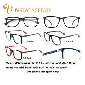 Image 5 - IVSTA di Legno Fatti A Mano Occhiali Da Vista Da Uomo Occhiali di Legno Quadrato Montatura Per Occhiali Miopia Occhiali Da Vista Ottica Lenti Montature In Acetato Grande di Grandi Dimensioni
