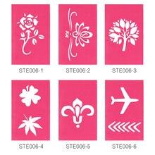 OPHIR 25 Designs Airbrushing Stencils Glitter Tattoo Stencils For Body Art Paint Temporary Glitter Tattoo Template _STE006