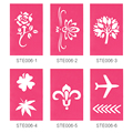 OPHIR 25 Designs Airbrushing Stencils Glitter Tattoo Stencils for Body Art Paint Temporary Glitter Tattoo Template _STE006