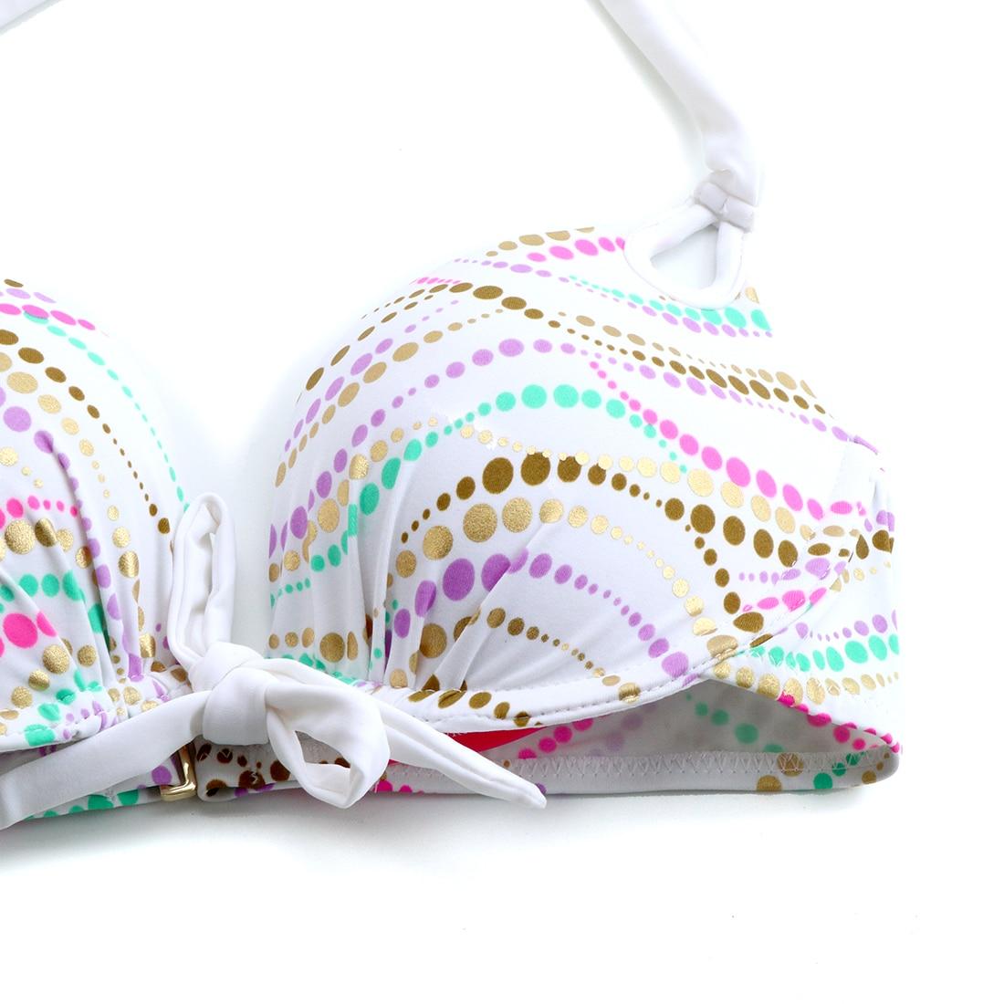 Underwier BIKINIS sets Swim Suit for Women White Bikini  Bathing suits Swimwear Swimming Wave Point Sexy Secret biqini 1