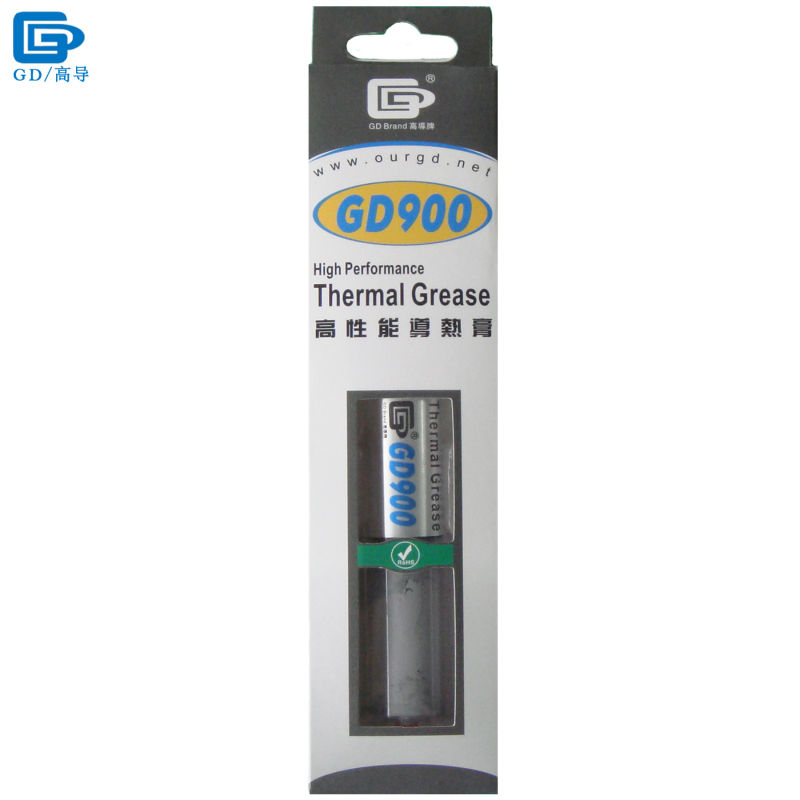 GD900 Thermal Conductive Paste Grease Silicone Plaster Heatsink Compound Net Weight 30 Grams High Performance For CPU LED BX30 gd brand thermal conductive grease paste silicone plaster gd460 heat sink compound net weight 1000 grams silver for led cn1000