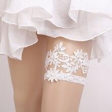 de95a894e3 2 unids set Blanco azul boda Liga encaje flor novia ligas mujeres Sexy  pierna