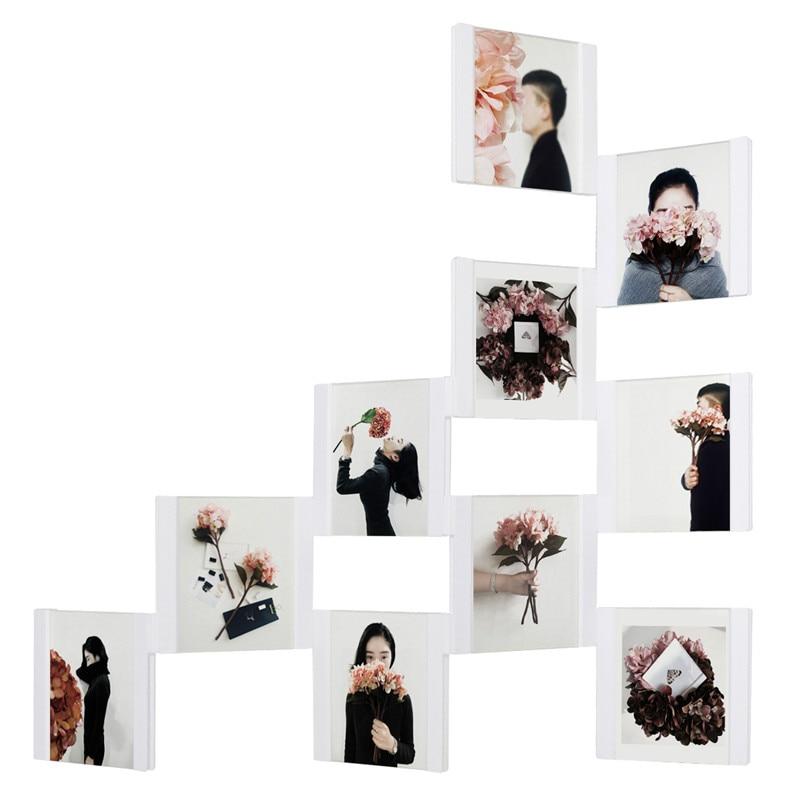 3D DIY Transparente Wand Collage Bilderrahmen Desktop Bilderrahmen ...