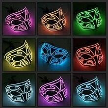цена на Halloween Led Mask Funny Fox EL wire Halloween Carnival Party Club Bar DJ Glowing Masks Party Mask