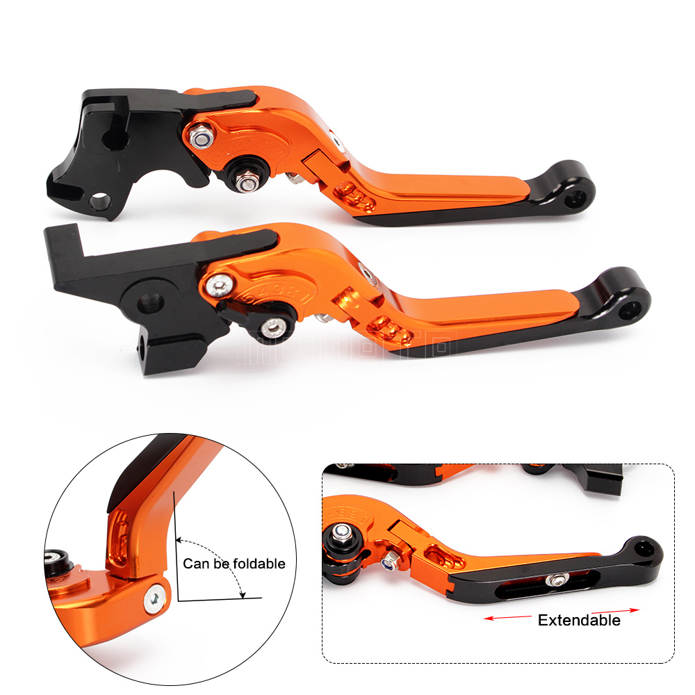 CNC motorcycle brake clutch levers for KTM DUKE 690 Enduro R 2014-2017 adjustable Foldable Lengthening accessories parts mtkracing cnc aluminum brake clutch levers set short adjustable lever for ktm adventure 1050 690 duke smc smcr 690 enduro r