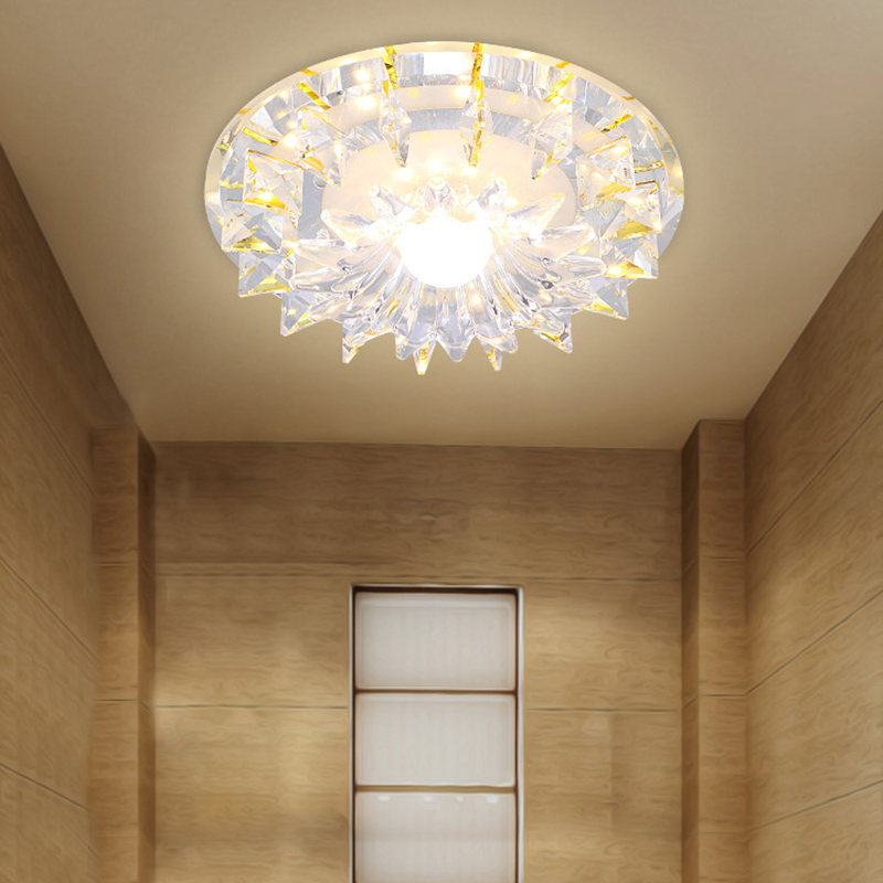 LAIMAIK AC90-260V 27W Modern Crystal LED Ceiling lights Surface Mounting or Embeded Ceiling Lamp For Bedroom Living Room